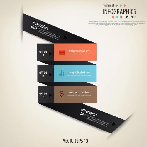 Элементы инфографики, часть 35 / Infographics design template with numeration, part 35 - vector stock