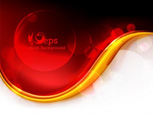 Красно-золотые фоны - Векторный клипарт | Red and gold backgrounds - Stock Vectors