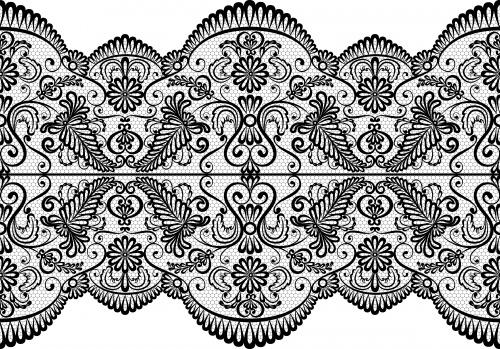 Винтажные кружевные фоны #6 - Векторный клипарт