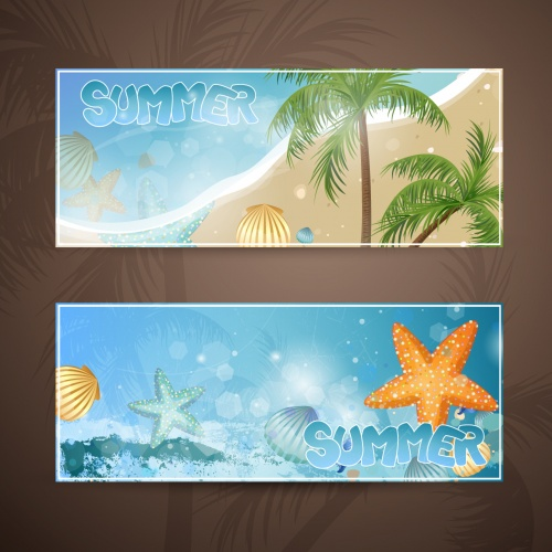 Decorative banners and Illustration