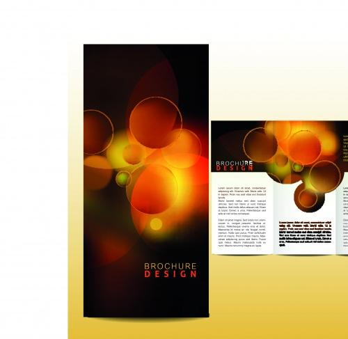 Бизнес брошюра из трёх страниц часть 31 | Tri fold business brochure vector set 31