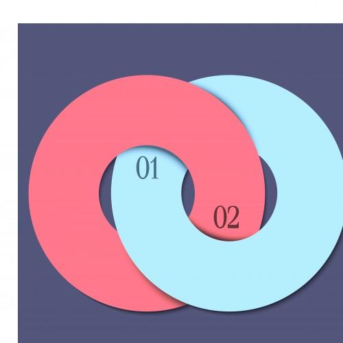 Баннеры с номерами часть 18 | Banners with numbers vector set 18