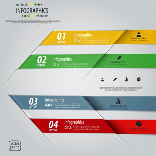 Элементы инфографики, часть 33 / Infographics design template with numeration, part 33 - vector stock