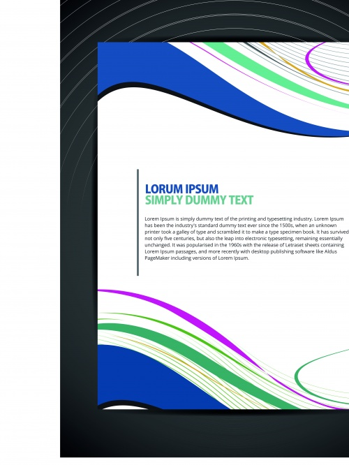 Abstract flyer design cover page vector