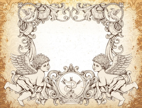 Frames with angels