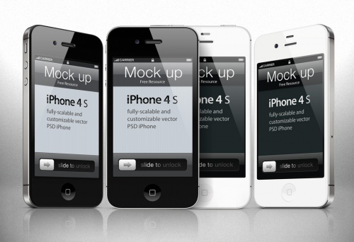 Pixeden - iPhone 4s Psd Vector Mockup Template