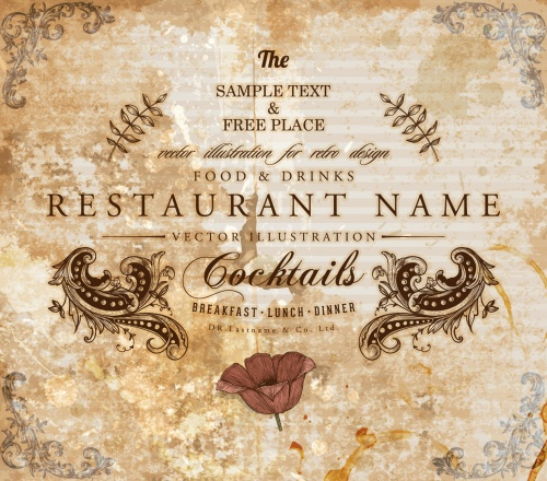 Vintage Restaurant Labels Vector