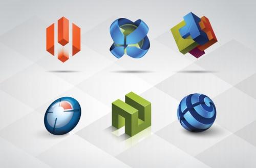 Pixeden - 3D Logo Templates Set Vol 1