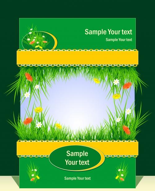 Весенние и летние баннеры в векторе / Easter spring and summer banners in vector