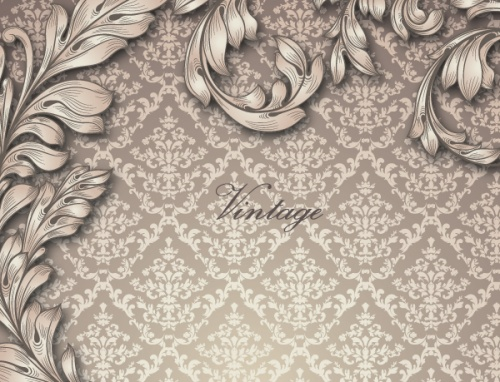 Vintage Spring Vector Backgrounds Set 4