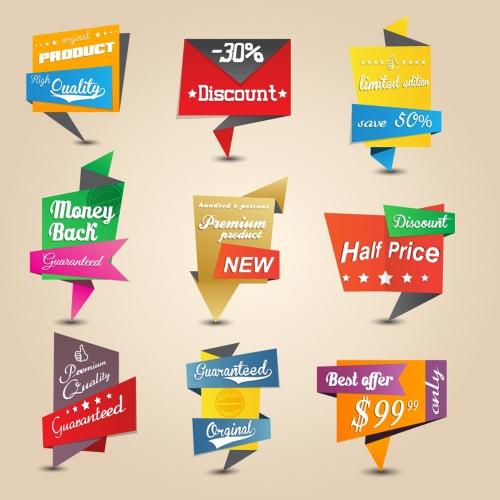 Origami stickers design