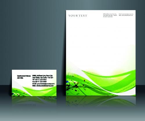 Бизнес карточки бланк и постер | Business card blank and poster vector