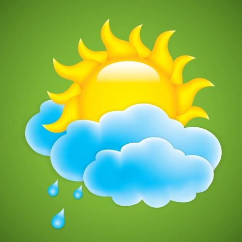 Летние солнечные фоны в векторе / Summer sunshine background in vector