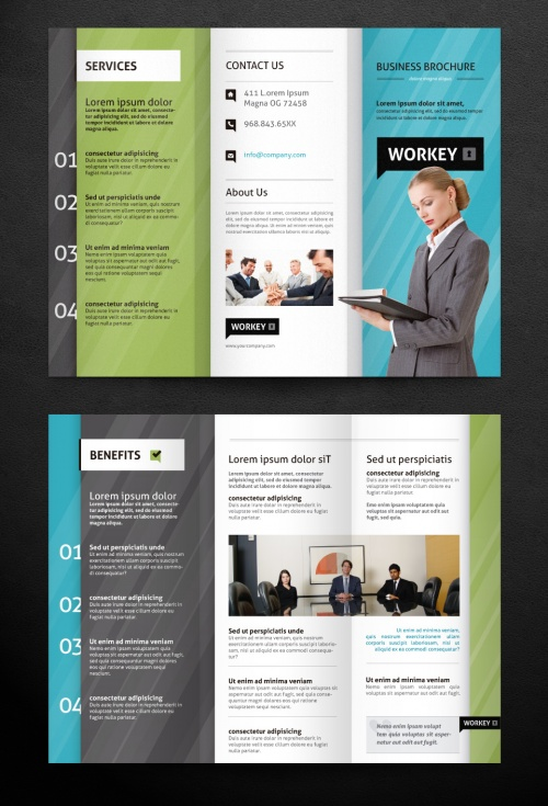 Pixeden - Corporate Tri Fold Brochure Template