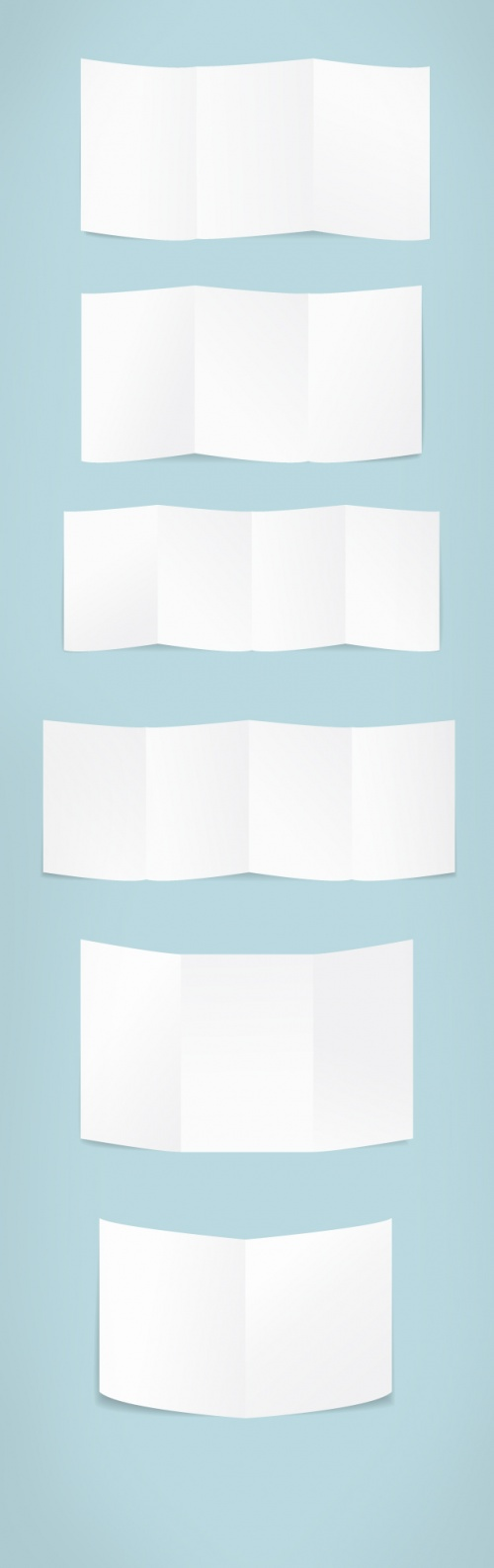 Designtnt - Folded Paper Vector Set