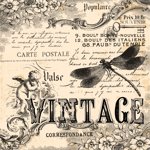 ��������� ��������� ����� � ������� / Collection of vintage backgrounds in vector
