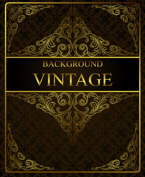 Golden vintage backgrounds