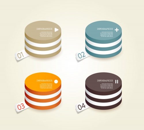 Инфографика, часть 26 / Infographics design template with numeration, part 26