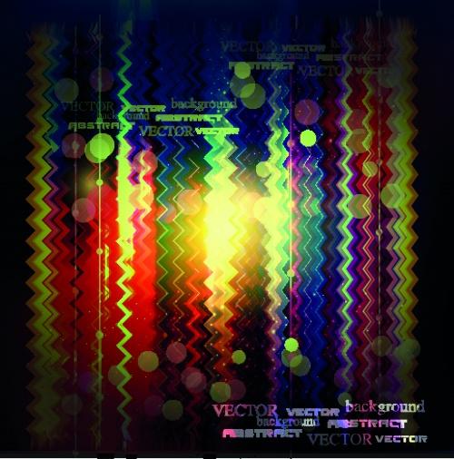 Разноцветный свет фоны | Multicolored light vector backgrounds set 2