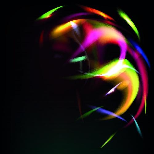 Разноцветный свет фоны   Multicolored light vector backgrounds set 2