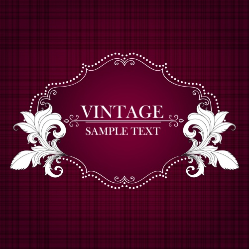 Vintage Floral Backgrounds Vector 3