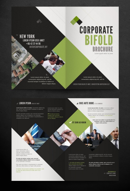 Pixeden - Corporate Bi Fold Brochure Template