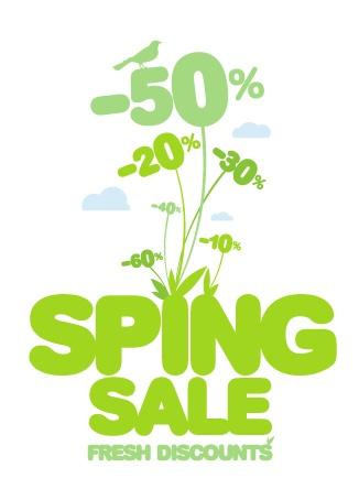 Весенние скидочные баннеры для новой модной коллекции / Spring fashion banners for sale and new collections in vector