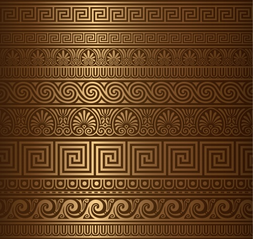 Темные винтажные фоны с орнаментами / Vintage dark background and ornaments in vector