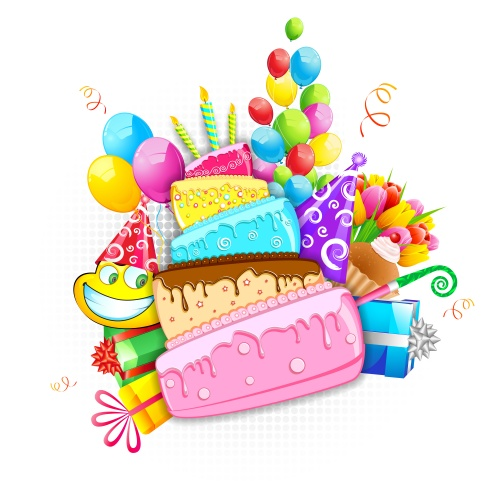 Stock: Happy Birthday and Holi