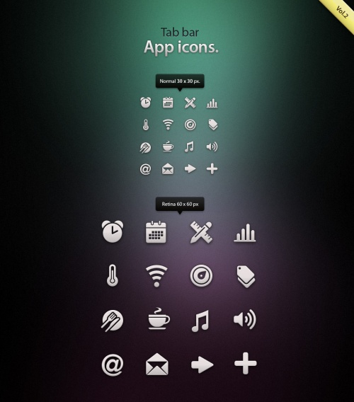 Pixeden - Tab Bar Icons iOS vol2