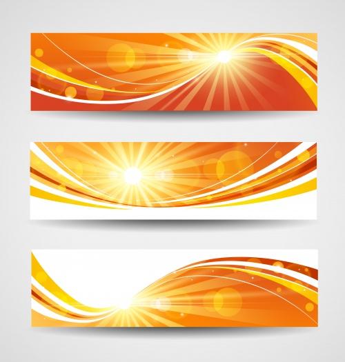 Баннеры с фонами весны, лета и пасхи, часть 3/ Banners for summer, spring and Easter in vector, part 3