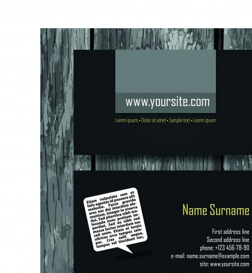 ������ �������� ����� 177   Business Cards set 177
