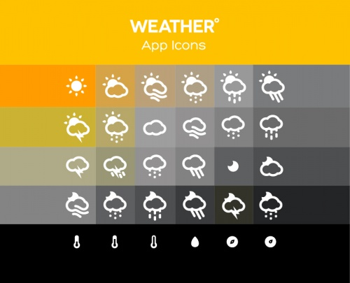 Pixeden - Forecast Weather Icons
