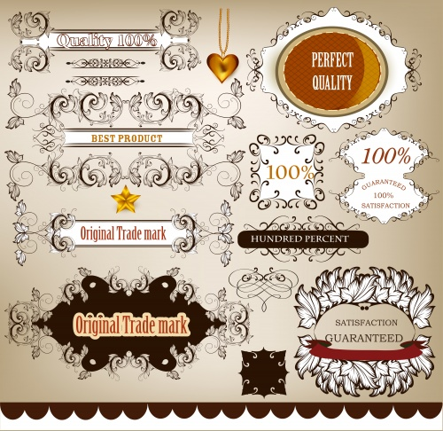 Коллекция каллиграфических элементов для дизайна / Collection of calligraphic design elements