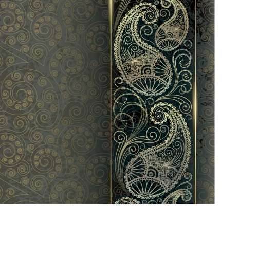 Background with golden pattern