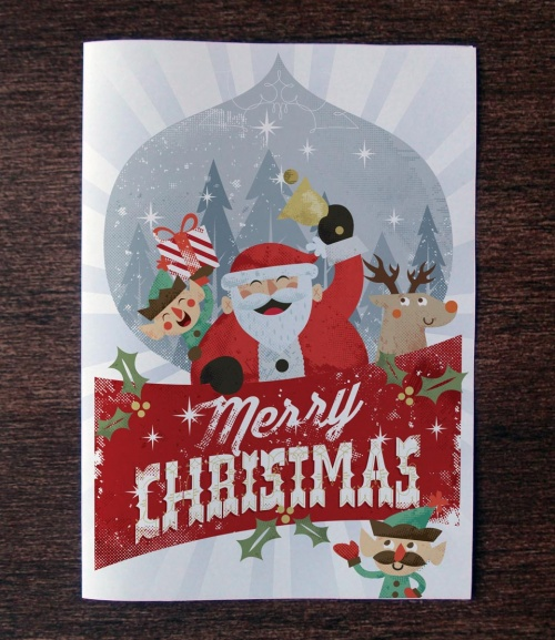 Pixeden - Christmas Card Invitation Template