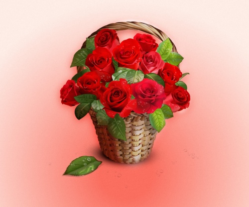 Pixeden - Vector Roses Basket