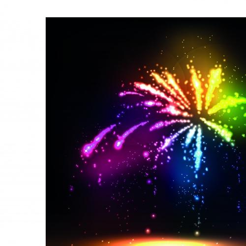 Салют часть 2   Salute and fireworks vector set 2