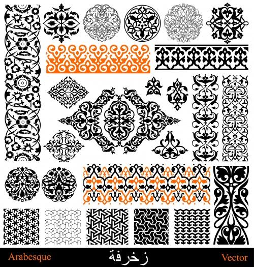 Арабские и персидские элементы для дизайна в векторе / Arabian and persian design elements in vector