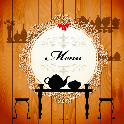Cute Cafe Menu Vector