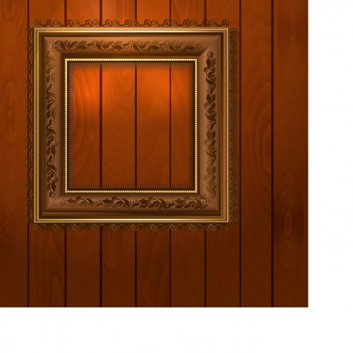Vintage frame on wall