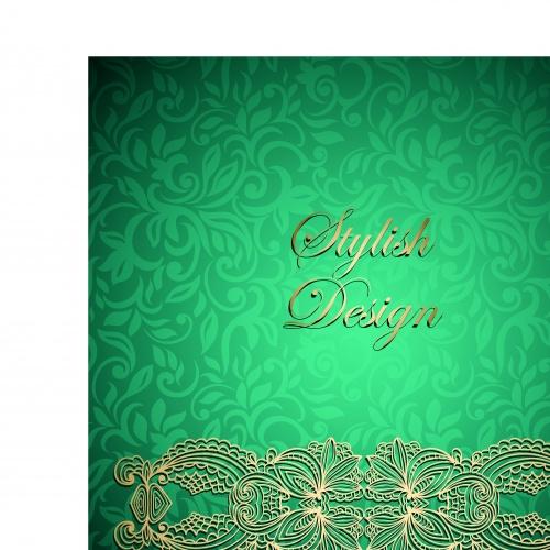 Винтажные свадебные пригласительные часть 2 | Vintage wedding invitation card vector set 2