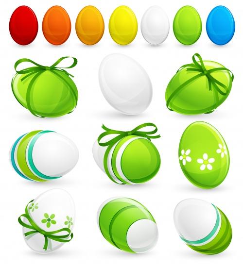 Пасхальные баннеры в векторе / Easter banners and eggs in vector