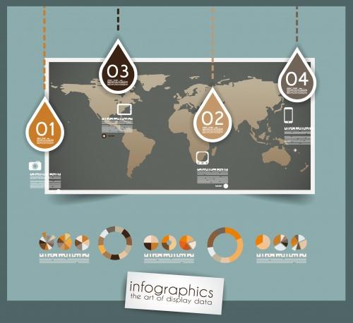 Элементы инфографики в ретро стиле, часть 20 / Infografic retro elements in vector set 20