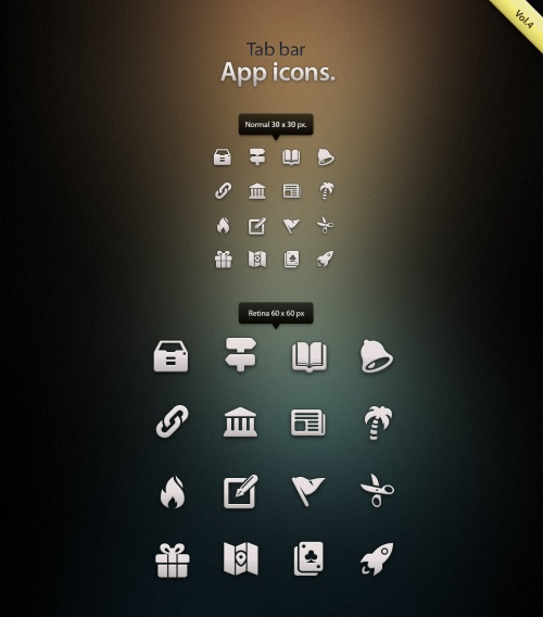 Pixeden - Tab Bar Icons iOS vol4