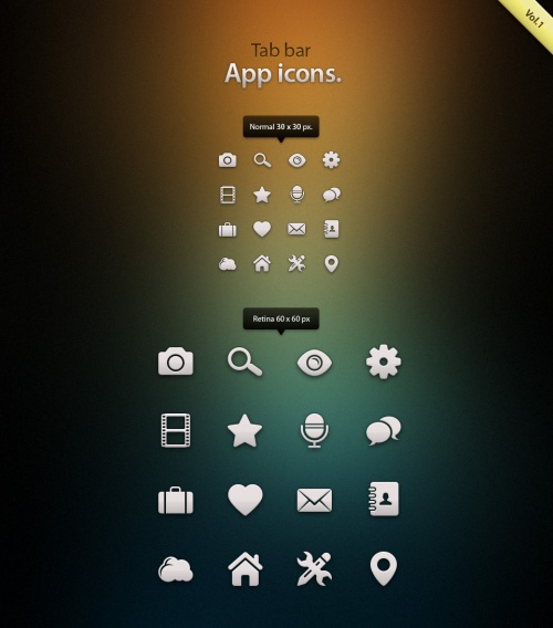 Pixeden - Tab Bar Icons iOS vol1