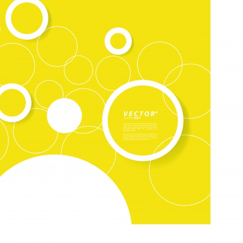 Жёлтый шаблон | Yellow abstract design templates vector