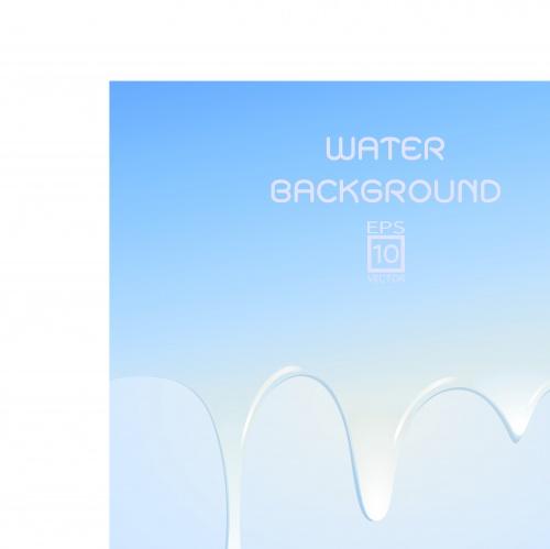 Вода капли фоны часть 3 | Water drops vector background set 3