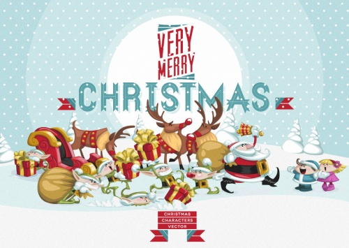 Pixeden - Christmas Vector Art Characters Pack