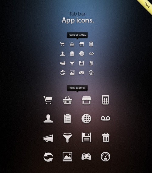 Pixeden - Tab Bar Icons iOS vol3